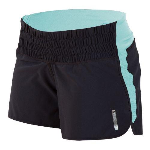 Womens Pearl Izumi Flash Lined Shorts - Black/Aruba Blue L
