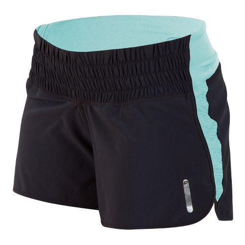 Womens Pearl Izumi Flash Lined Shorts - Black/Aruba Blue XS