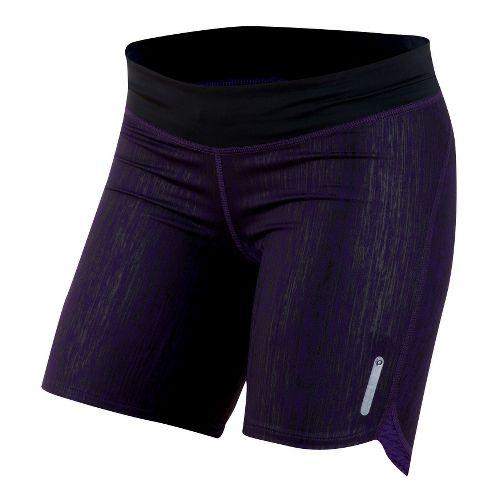 Womens Pearl Izumi W Flash Tight Fitted Shorts - Blackberry L