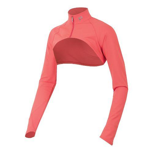 Womens Pearl Izumi Fly Shrug Long Sleeve No Zip Technical Tops - Living Coral L ...