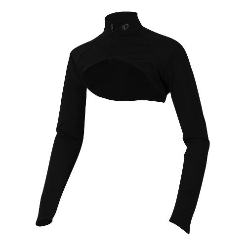 Womens Pearl Izumi Fly Shrug Long Sleeve No Zip Technical Tops - Black XS