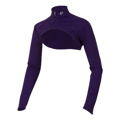 Womens Pearl Izumi Fly Shrug Long Sleeve No Zip Technical Tops - Blackberry XS