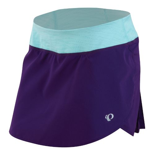 Womens Pearl Izumi Fly Run Skort Fitness Skirts - Blackberry/Aruba Blue L