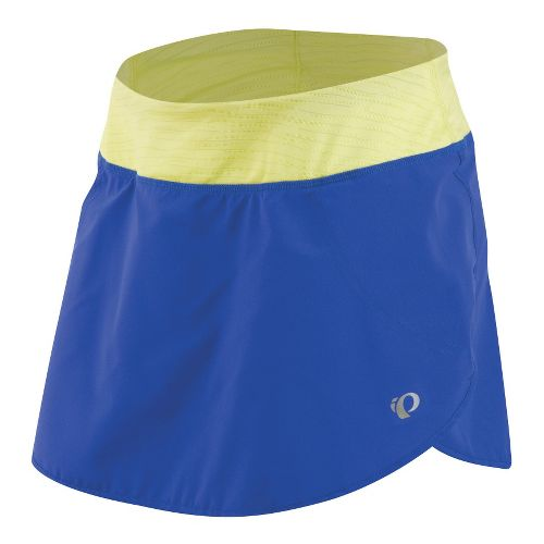 Womens Pearl Izumi Fly Run Skort Fitness Skirts - Dazzling Blue/Sunny Lime XL