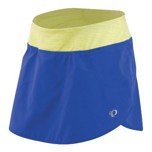 Womens Pearl Izumi Fly Run Skort Fitness Skirts - Dazzling Blue/Sunny Lime XXL