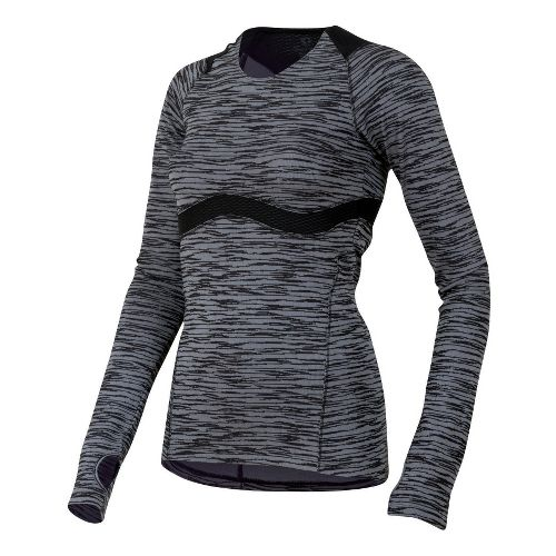 Womens Pearl Izumi Flash Long Sleeve 1/2 Zip Technical Tops - Black L