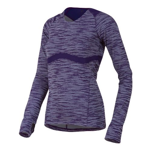Womens Pearl Izumi Flash Long Sleeve 1/2 Zip Technical Tops - Blackberry XXL