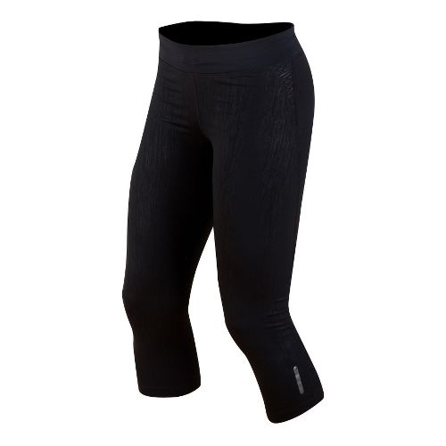 Womens Pearl Izumi Flash 3/4 Capri Tights - Black XL