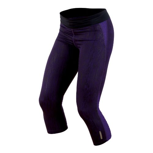 Womens Pearl Izumi Flash 3/4 Capri Tights - Blackberry XL