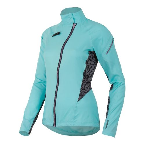Womens Pearl Izumi Flash Running Jackets - Aruba Blue XXL