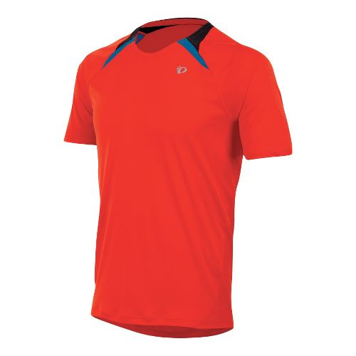 Mens Pearl Izumi Fly Short Sleeve Technical Tops - Firey Red S