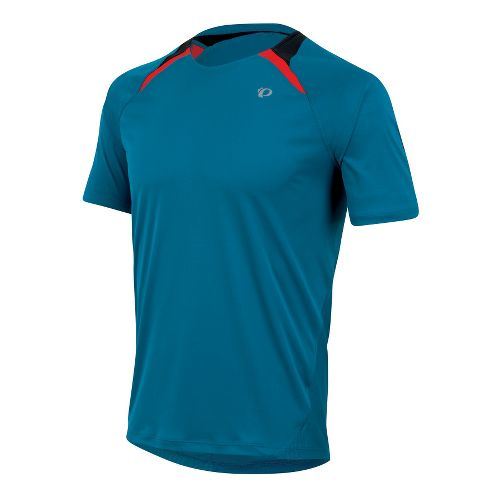 Mens Pearl Izumi Fly Short Sleeve Technical Tops - Mykonos Blue S