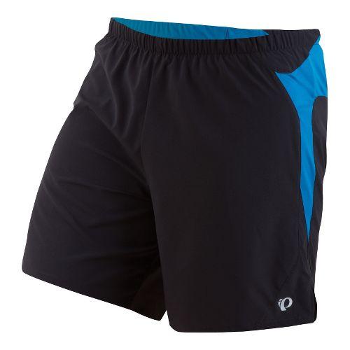 Mens Pearl Izumi Fly Long Lined Shorts - Black/Mykonos Blue L