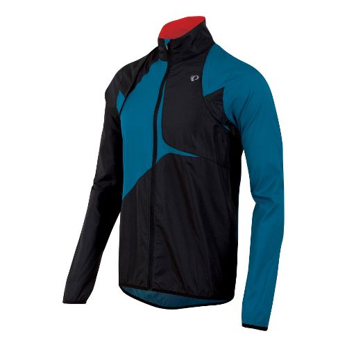 Mens Pearl Izumi Fly Convertible Running Jackets - Mykonos Blue/Black XXL