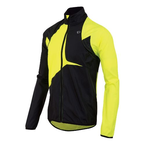 Mens Pearl Izumi Fly Convertible Running Jackets - Screaming Yellow/Black XXL