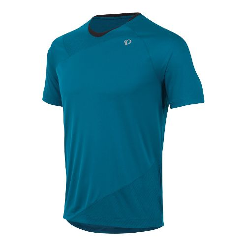 Mens Pearl Izumi Flash Short Sleeve Technical Tops - Mykonos Blue S