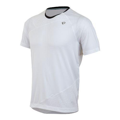 Mens Pearl Izumi Flash Short Sleeve Technical Tops - White M