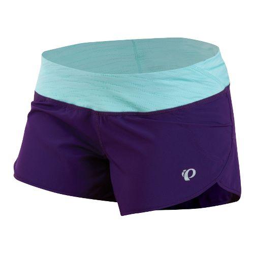 Womens Pearl Izumi Fly Split Lined Shorts - Blackberry/Aruba Blue L