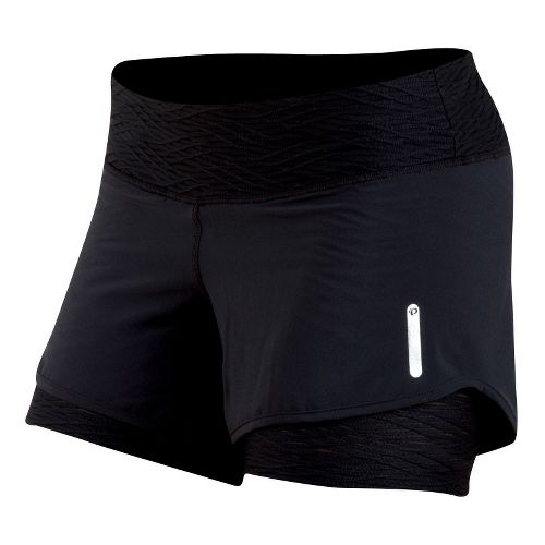 Womens Pearl Izumi W Flash 2 in 1 Shorts - Black M
