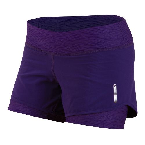 Womens Pearl Izumi W Flash 2 in 1 Shorts - Blackberry M