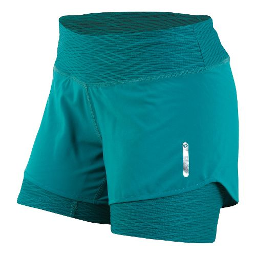Womens Pearl Izumi W Flash 2 in 1 Shorts - Deep Lake L
