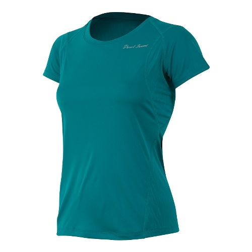 Womens Pearl Izumi W Fly Short Sleeve Technical Tops - Deep Lake L