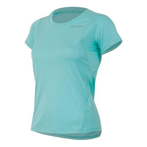 Womens Pearl Izumi W Fly Short Sleeve Technical Tops - Aruba Blue M