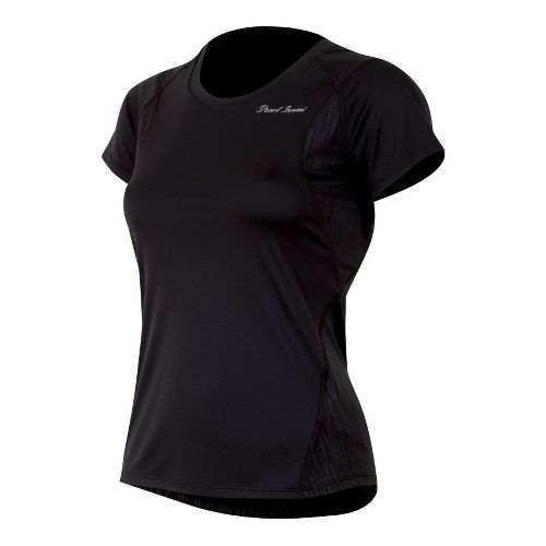 Womens Pearl Izumi Fly Short Sleeve Technical Tops - Black L