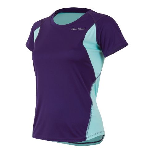 Womens Pearl Izumi W Fly Short Sleeve Technical Tops - Blackberry/Aruba Blue M