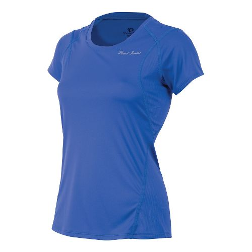 Womens Pearl Izumi W Fly Short Sleeve Technical Tops - Dazzling Blue XS