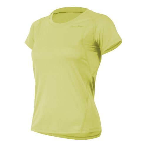 Womens Pearl Izumi W Fly Short Sleeve Technical Tops - Sunny Lime M