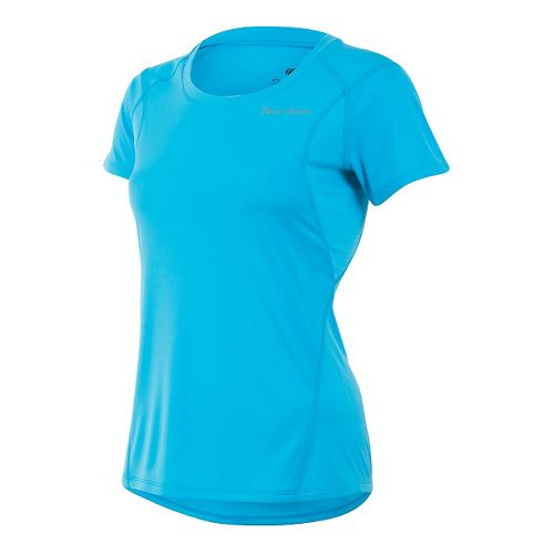 Womens Pearl Izumi W Fly Short Sleeve Technical Tops - Deep Lake M