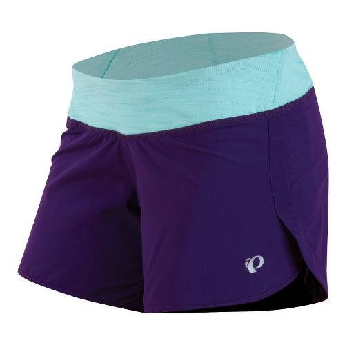 Womens Pearl Izumi W Fly Lined Shorts - Blackberry/Aruba Blue L