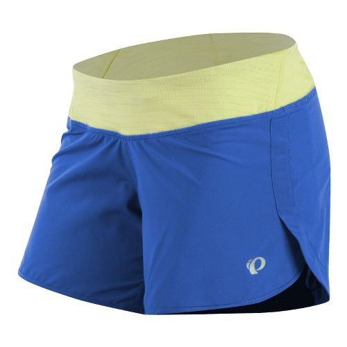 Womens Pearl Izumi W Fly Lined Shorts - Dazzling Blue/Sunny Lime L