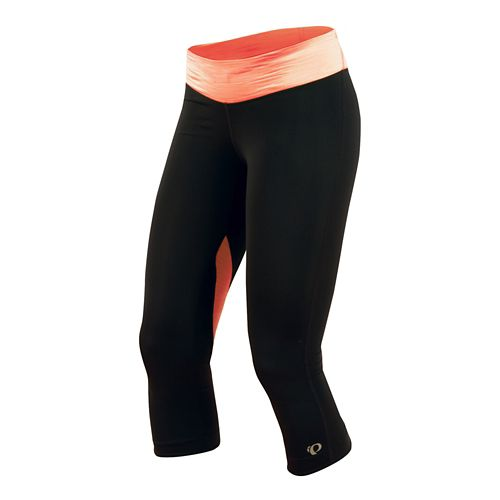 Womens Pearl Izumi Fly 3/4 Capri Tights - Black/Living Coral XS