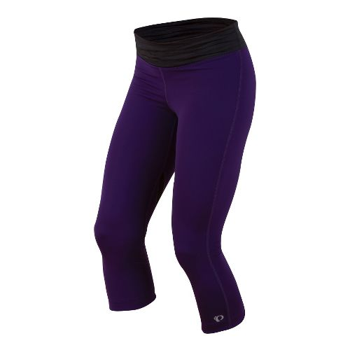 Womens Pearl Izumi Fly 3/4 Capri Tights - Blackberry/Black L