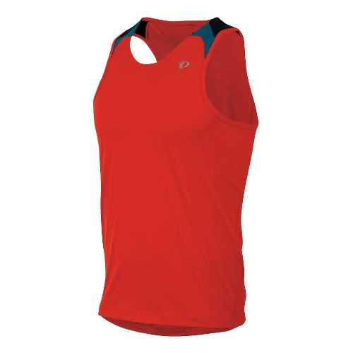 Mens Pearl Izumi Fly Singlets Technical Tops - Fiery Red L