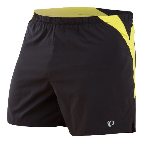 Mens Pearl Izumi Fly Lined Shorts - Black/Sulphur L