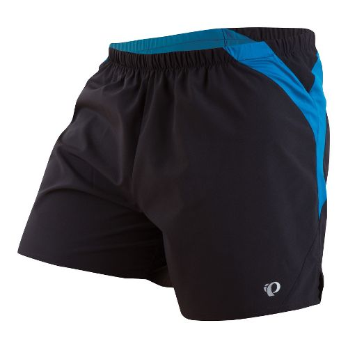 Mens Pearl Izumi Fly Lined Shorts - Black/Mykonos Blue L