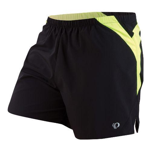 Mens Pearl Izumi Fly Lined Shorts - Black/Screaming Yellow L