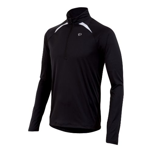 Mens Pearl Izumi Fly Long Sleeve 1/2 Zip Technical Tops - Black M
