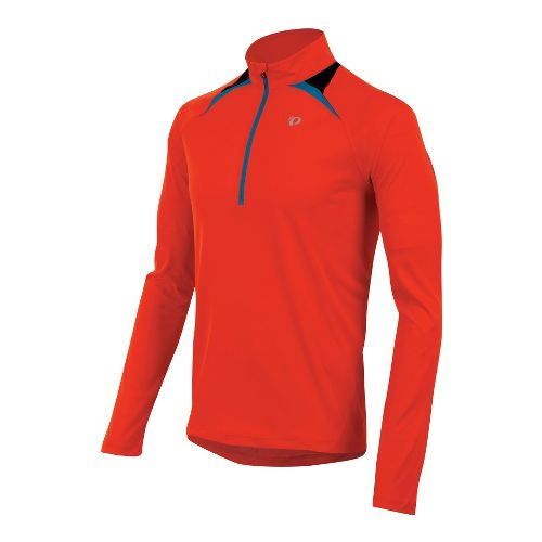 Mens Pearl Izumi Fly Long Sleeve 1/2 Zip Technical Tops - Fiery Red XXL