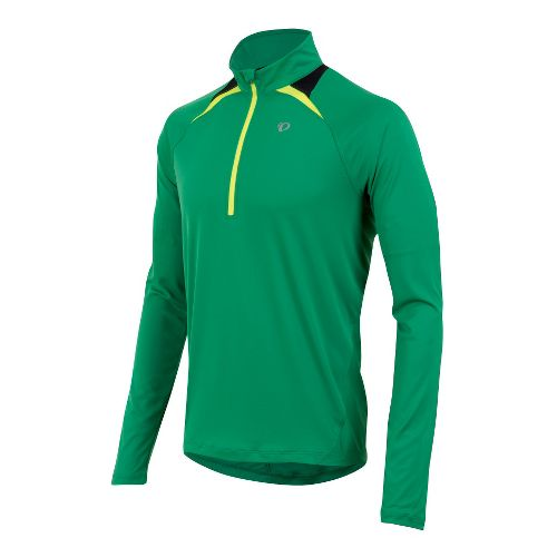 Mens Pearl Izumi Fly Long Sleeve 1/2 Zip Technical Tops - Jelly Bean S