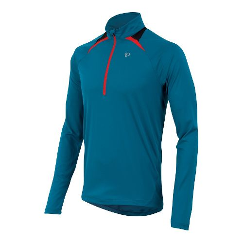 Mens Pearl Izumi Fly Long Sleeve 1/2 Zip Technical Tops - Mykonos Blue L