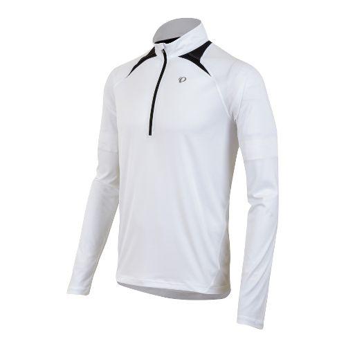 Mens Pearl Izumi Fly Long Sleeve 1/2 Zip Technical Tops - White M
