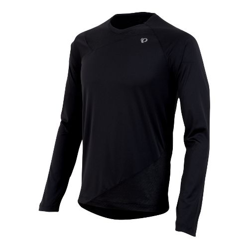 Mens Pearl Izumi Flash Long Sleeve No Zip Technical Tops - Black M