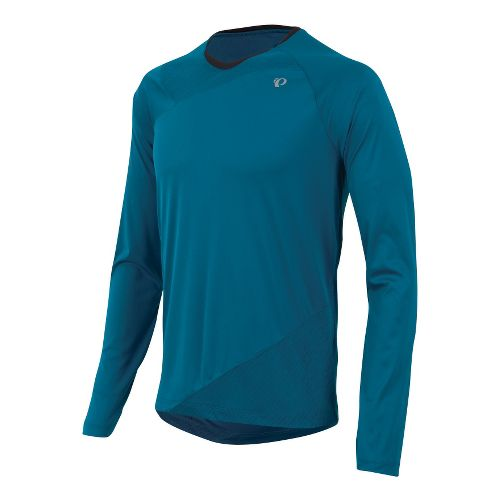 Mens Pearl Izumi Flash Long Sleeve No Zip Technical Tops - Mykonos Blue M