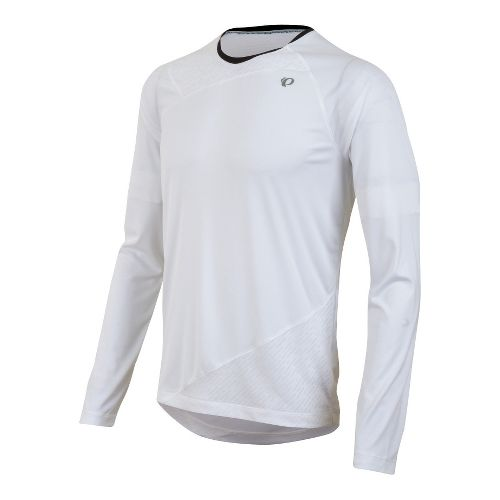 Mens Pearl Izumi Flash Long Sleeve No Zip Technical Tops - White M