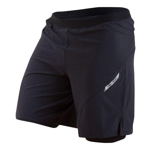 Mens Pearl Izumi Flash 2-in-1 Shorts - Black M
