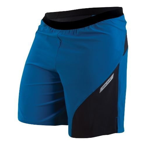 Mens Pearl Izumi Flash 2-in-1 Shorts - Mykonos Blue/Black XXL